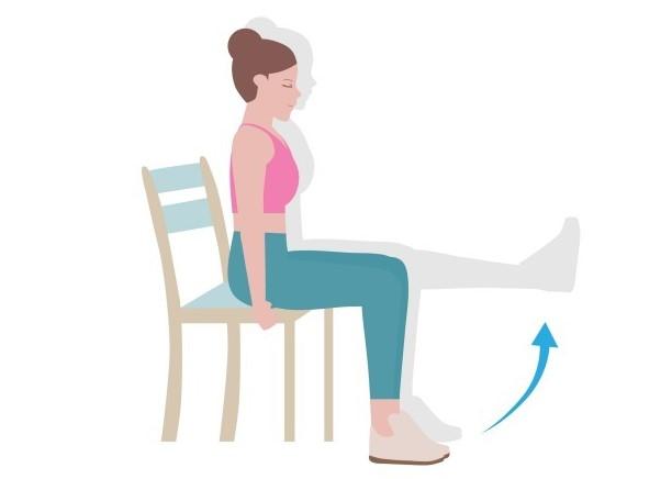 膝伸ばし運動